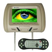 Encosto Cabeça Tela Monitor Leitor Dvd Tech One Standard Bege