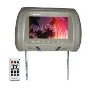 Encosto Cabeça Tela Monitor Usb SD IR Tech One Standard Cinza
