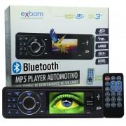 Mp5 Player Automotivo 1 Din Tela 3 Exbom MPCC-D30A Som Mp3 Fm Usb Sd Bluetooth