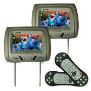 Par Encosto Cabeça Tela Monitor Leitor Dvd Tech One Standard Cinza