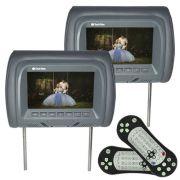 Par Encosto Cabeça Tela Monitor Leitor Dvd Tech One Standard Grafite