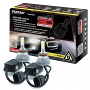 Par Lâmpada Super Led 9000 Lumens 12V 24V 50W Shocklight Power Led 3D H11 6000K