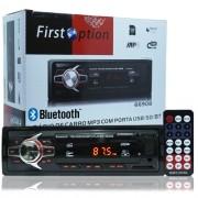 Rádio Mp3 Player Automotivo Bluetooth  First Option Fm Sd Usb Controle