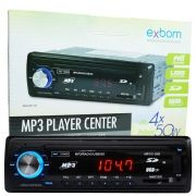 Rádio Mp3 Player Automotivo Toca Som Fm Usb Sd Aux Controle Exbom MPCC-20B