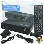 Receptor Conversor Tv Digital Full Hd Função Gravador Usb Hdmi Rca Exbom Isdb-T com Filtro 4G