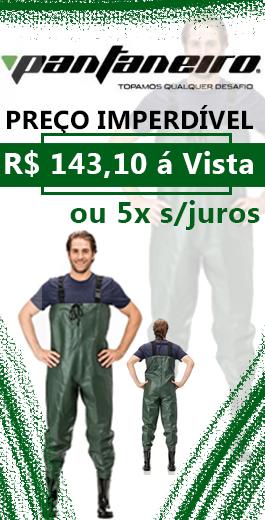 Jardineira Macacão de Pesca com Bota Acoplada Pantaneiro 201