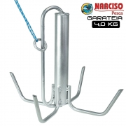 Âncora Garateia de Aço 4 Kg - Narciso Pesca