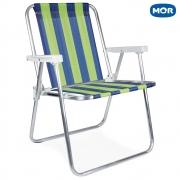 Cadeira Alta Retrátil de Alumínio 2223 - Mor