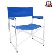Cadeira de Alumínio Retrátil Azul - Aprazível