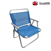 Cadeira de Praia Conforto Sannet 140 Kg Azul - Ronchetti
