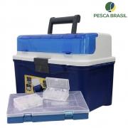 Caixa de Pesca Maleta PBBOX 007 Azul - Pesca Brasil