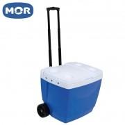 Caixa Térmica 42 L com Rodas e Puxador Azul - Mor