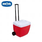 Caixa Térmica 42 L com Rodas e Puxador Vermelha - Mor
