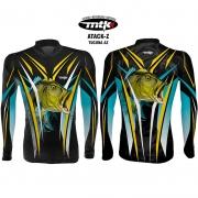 Camiseta de Pesca MTK Atack Z Azul Tucuna M