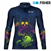 Camiseta de Pesca Salt Walter Skull GOSK 05 EX - Go Fisher