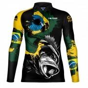 Camiseta de Pesca Tucuna BR Skull GOSK 02 EX - Go Fisher