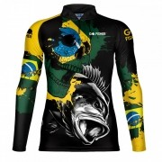 Camiseta de Pesca Tucuna BR Skull GOSK 02 G - Go Fisher