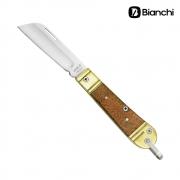 Canivete Inox com Cabo de Madeira e Latão - Bianchi