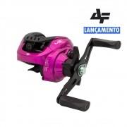 Carretilha Albatroz M21 Slim Pink Drag 5Kg Esquerda