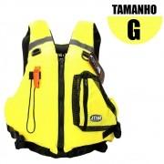 Colete Salva Vidas Caiaque Homologado G Amarelo - Ativa