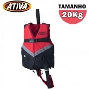 Colete Salva Vidas Canoa 20Kg Vermelho - Ativa
