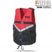 Colete Salva Vidas Canoa 120Kg Vermelho - Ativa