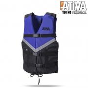 Colete Salva Vidas Canoa 130Kg Azul - Ativa