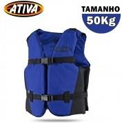Colete Salva Vidas Canoa 50Kg Azul - Ativa