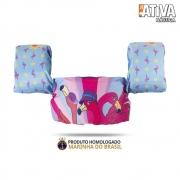 Colete Salva Vidas Homologado Ativa Kids Flamingo