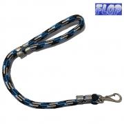 Guia de Corda para Cães 60cm Azul/Preta - Flop