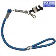 Guia de Corda com Amortecedor para Cães 60cm Azul - Flop