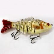 Isca Artificial Articulada CMIK Fishing Branca