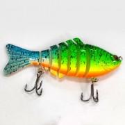 Isca Artificial Articulada CMIK Fishing Verde