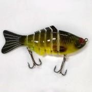 Isca Artificial Articulada CMIK Fishing Verde Musgo