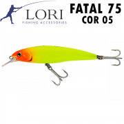 Isca Artificial Fatal 75 Cor 05 - Lori