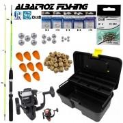 Kit de Pesca Albatroz Vara com Molinete e Caixa com Acessórios