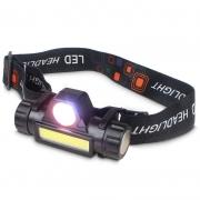Lanterna de Cabeça Super Led Recarregável USB
