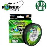 Linha multifilamento power pro 92m 0,15mm verde