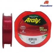 Linha Red Spider 300 M 0,35mm Vermelho - Mazzaferro
