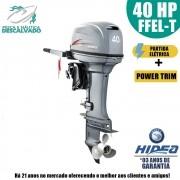 MOTOR DE POPA HIDEA 2T 40HP FFEL-T (ELÉTRICA+POWER TRIM)