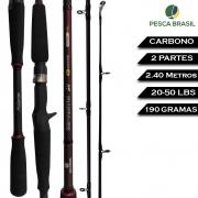 Vara Carretilha Millenium Impacto 2P 2.40M 20-50LBS - Pesca Brasil