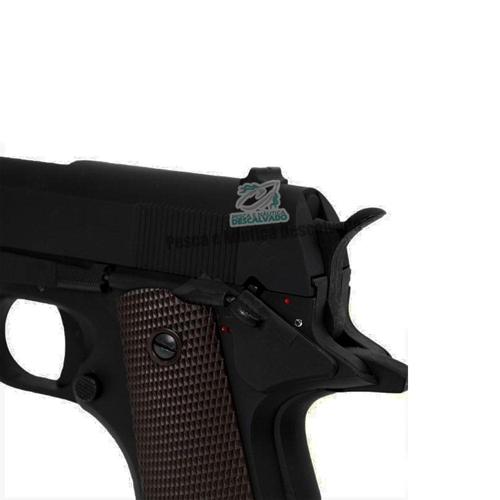 Pistola Airsoft Cyma 1911 CM123 Elétrica - 6mm