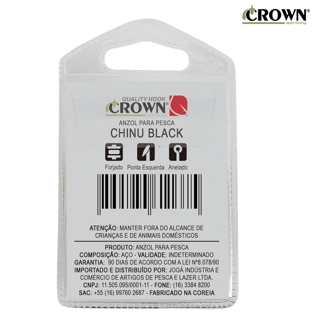 Anzol Crown Chinu Black Nº01 10 Unidades
