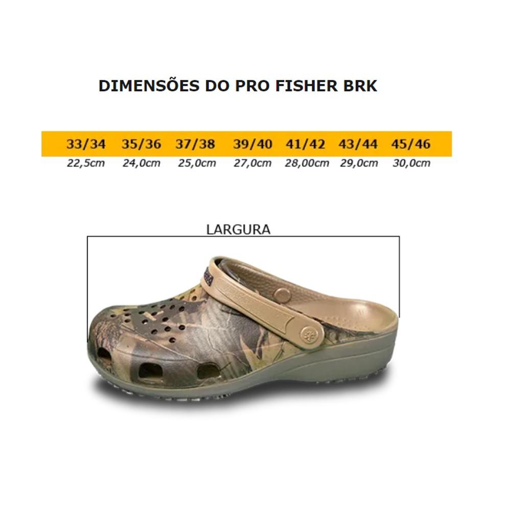 Babuche pro fisher antiderrapante 37/38