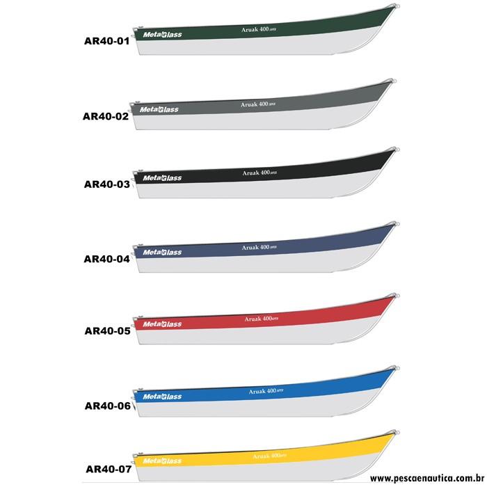 Barco 4 Metros Aruaka 400 Super Metal Glass