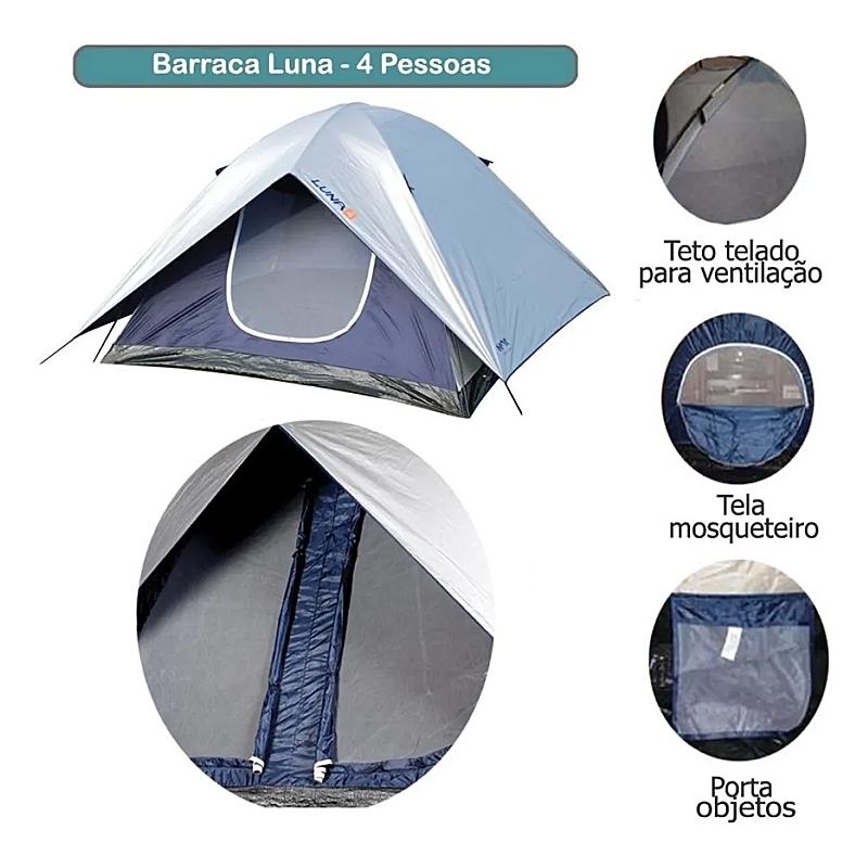 Barraca Luna Mor 4 Pessoas com Proteção Solar