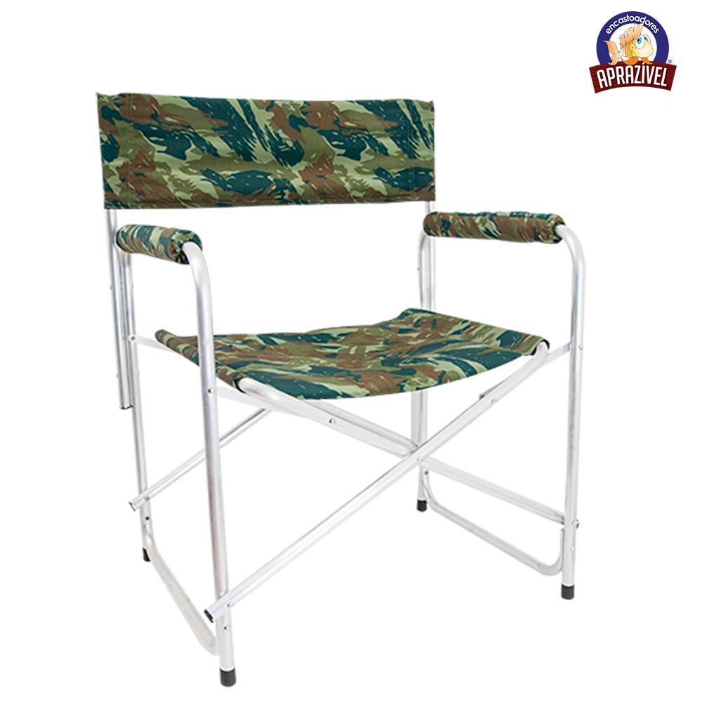 Cadeira de Alumínio Retrátil Camuflada - Aprazível