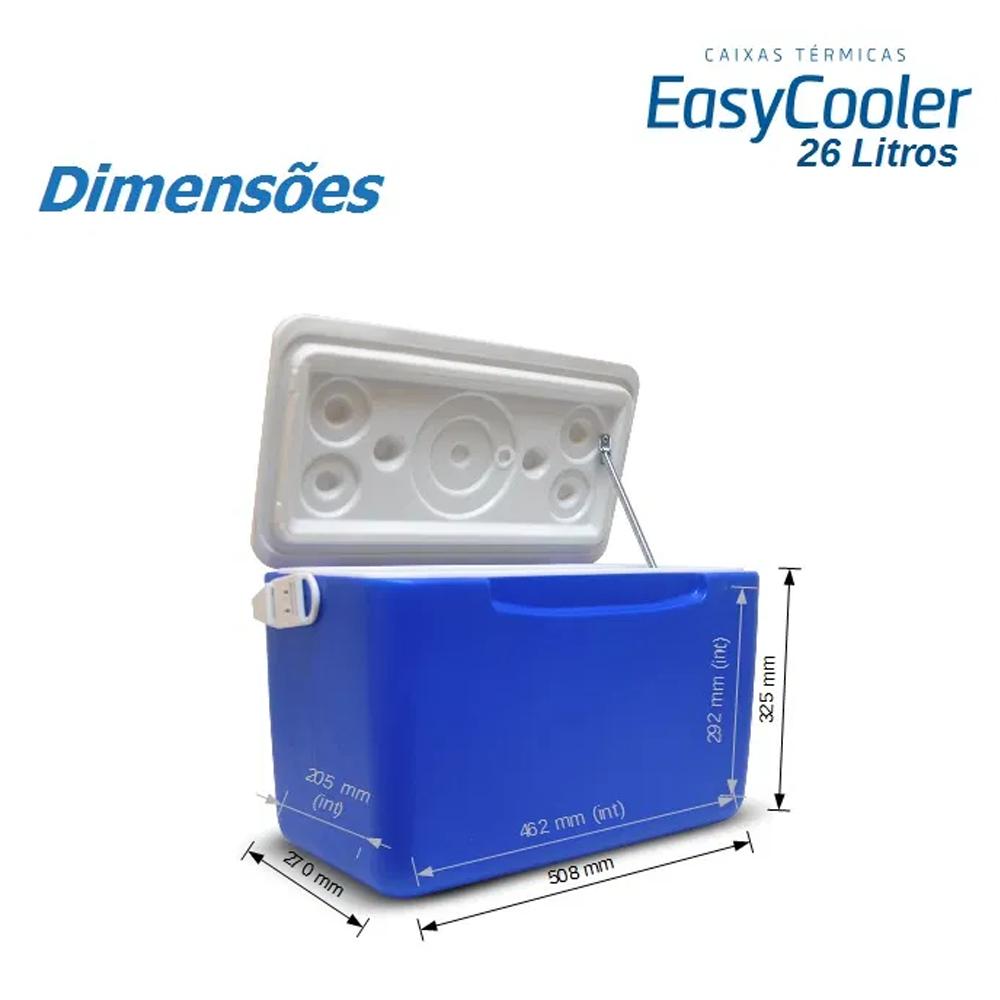 Caixa Térmica Easycooler 26 L com Mola - Easypath