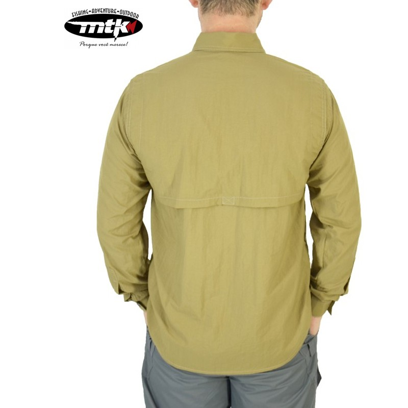 Camisa Sky MTK Proteção Solar Tam. EXG Caqui