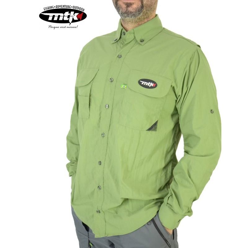 Camisa Sky MTK Proteção Solar Tam. EXG Verde